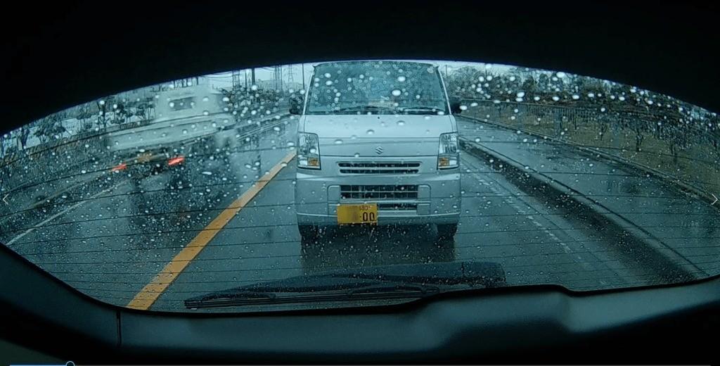 ドライブレコーダーで撮影した後方の画像