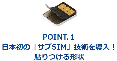 変なSIMは既存のSIMに貼りつけられる
