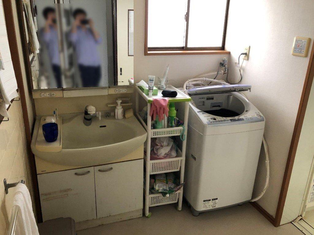 交換前の洗面台