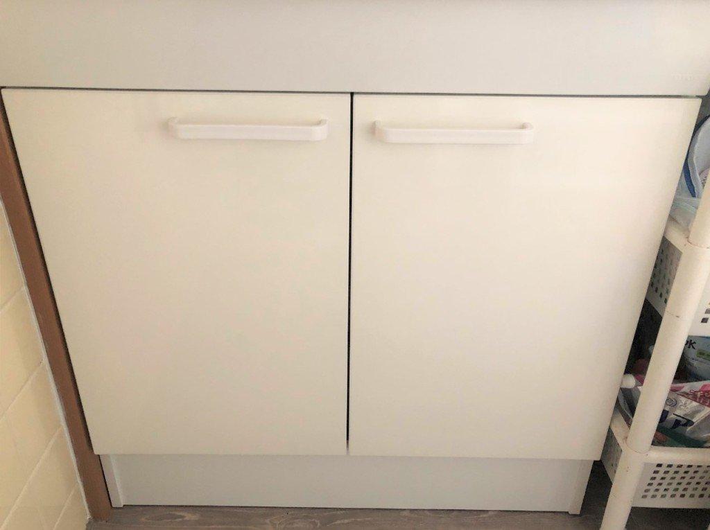 TOTOの洗面台の扉の調整完了