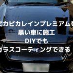 ピカピカレインプレミアムを黒い車に施工|DIYでもガラスコーティングできる!