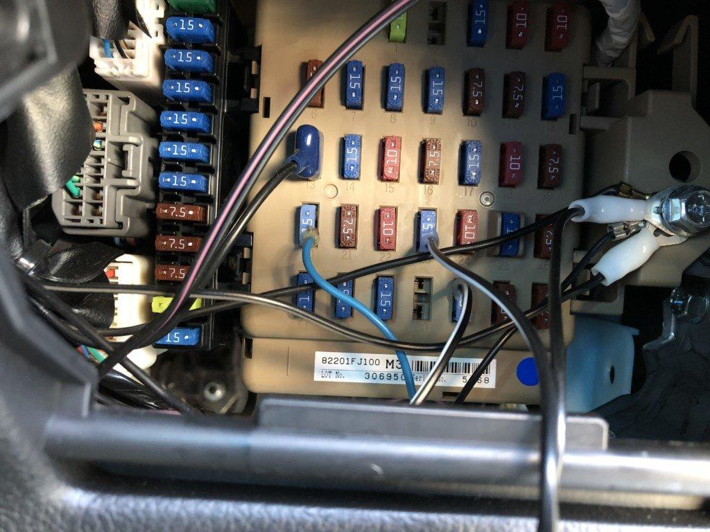 ドライブレコーダーの電源を確保