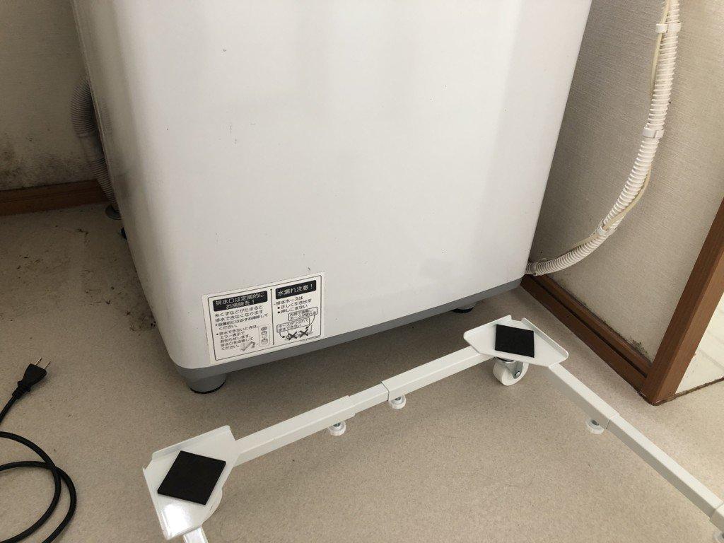 洗濯機置き台のサイズ調整