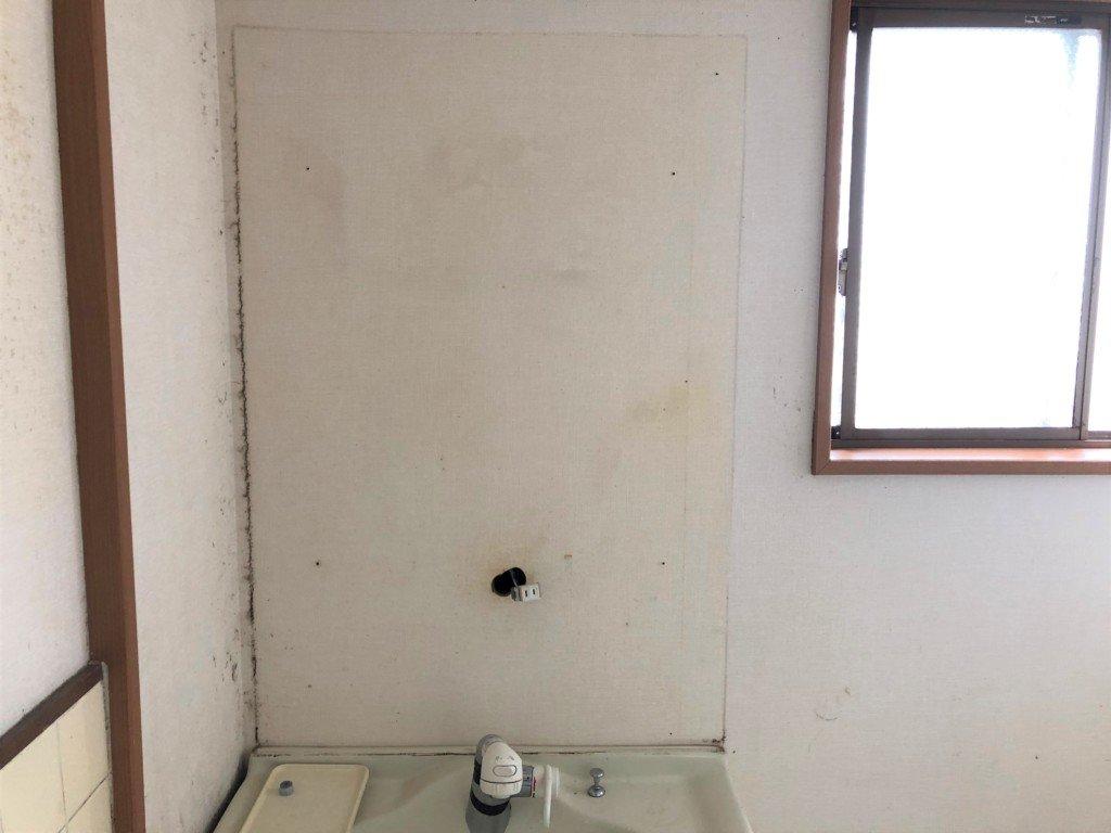 洗面台の上部を外したところ