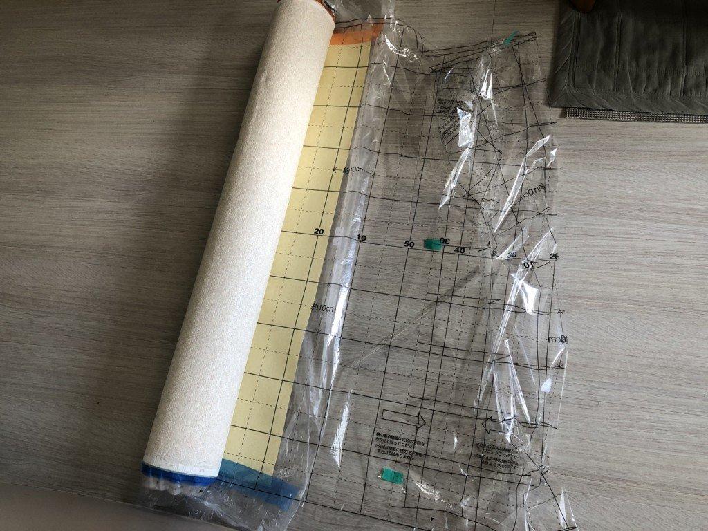 壁紙を必要な長さでカット