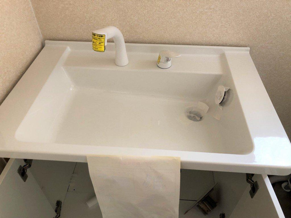 洗面台をDIYで入れ替える