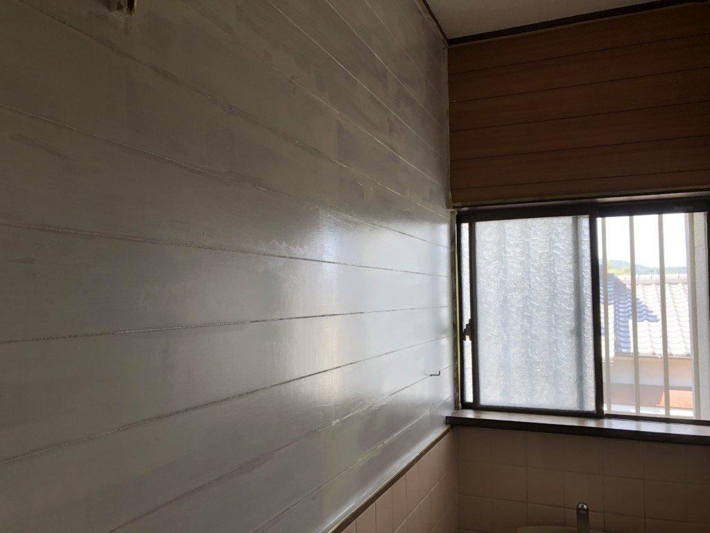壁ペンキを塗る|一度塗り