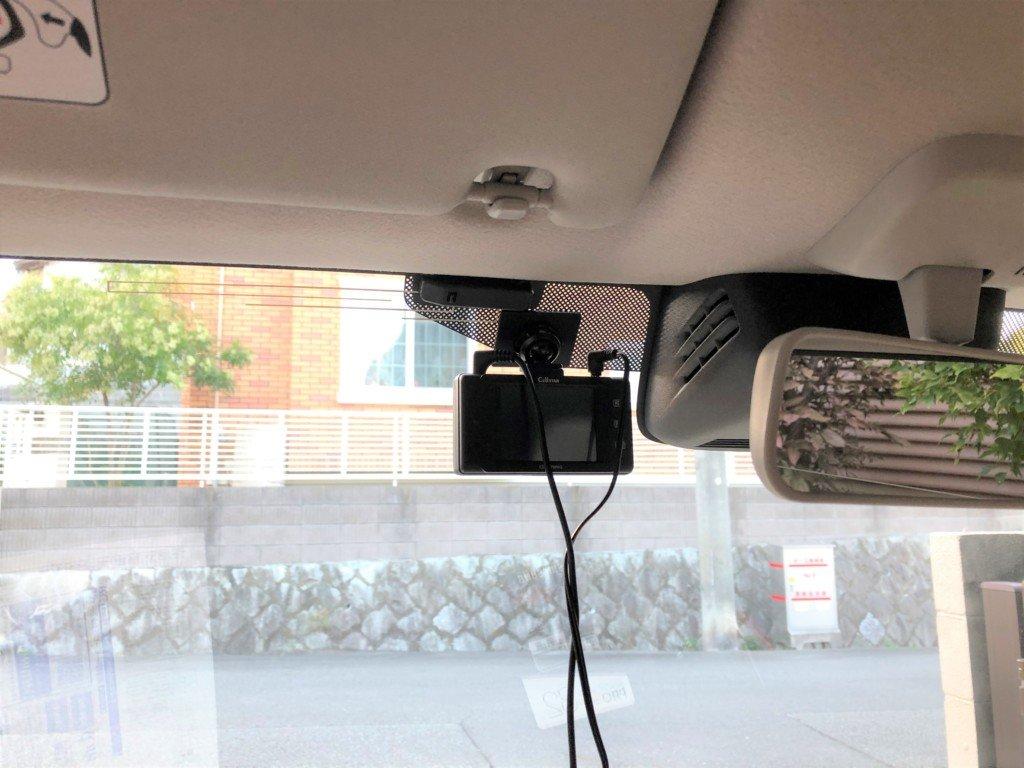 新型ラパン(DBA-HE33S)のドライブレコーダーを設置位置