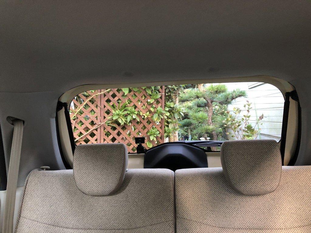 新型ラパンに後方ドライブレコーダー取り付け