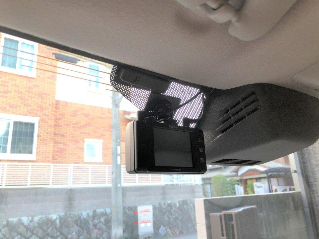 配線を隠してラパンにドライブレコーダー取り付け