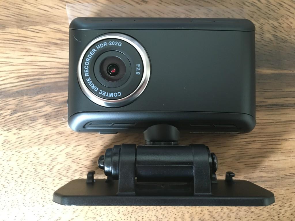 ドライブレコーダー】コムテック HDR-202Gの外観