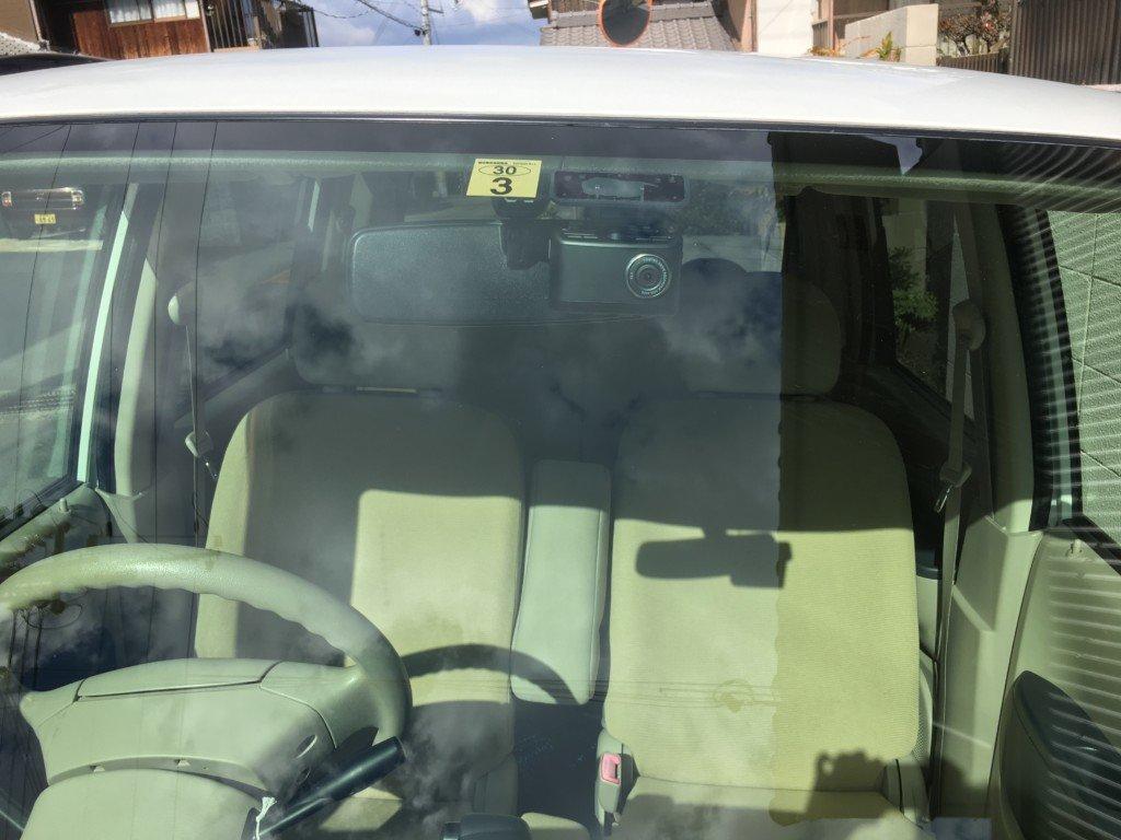 ドライブレコーダー設置した様子|車外
