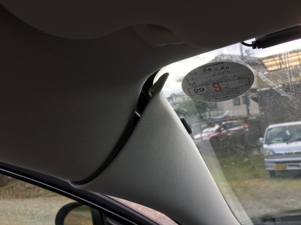 ドライブレコーダーからの配線を隠す